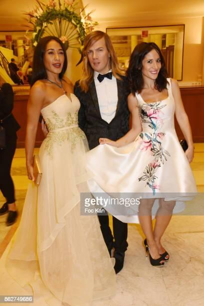 Josephine Jobert, Christophe Guillarme and Fabienne Carat attend the 'Gala de L'Espoir' Auction Dinner Against Cancer at the Theatre des Champs...