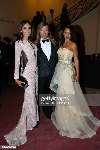 "Josephine Jobert, Christophe Guillarme and Patricia Contreras attend the 25th ""Gala de l'Espoir"" at Theatre des Champs-Elysees on October 17, 2017 in..."