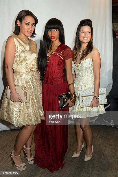 Josephine Jobert Mia Frye and Flavie Pean attend the Christophe Guillarme show as part of the Paris Fashion Week Womenswear Fall/Winter 20142015 at...