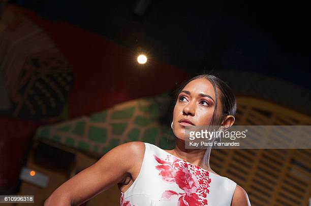 Josephine Jobert walks the runway during the Christophe Guillarme show as part of the Paris Fashion Week Womenswear Spring/Summer 2017 on September...