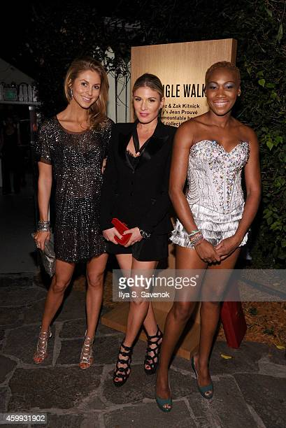 Josephine Kime Hofit Golan and Nicole Coste attend Bally presents TRIANGLE WALKS during Art Basel Miami 2014 at Delano Hotel on December 3 2014 in...