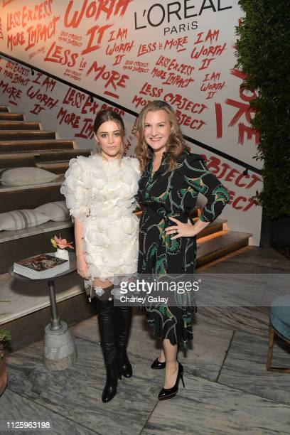 Josephine Langford and Vanity Fair Executive West Coast Editor Krista Smith are seen as Vanity Fair and L'Oréal Paris Celebrate New Hollywood on...
