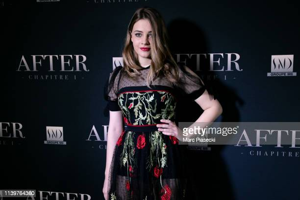 Josephine Langford attends the 'After' screening at Hotel Royal Monceau Raffle on April 01 2019 in Paris France