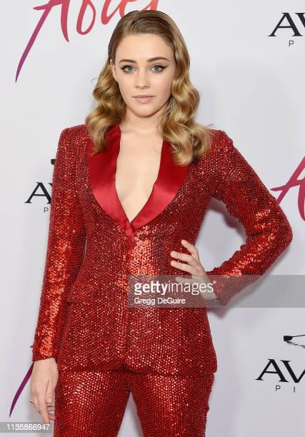 Josephine Langford attends the Los Angeles Premiere Of Aviron Pictures' After at The Grove on April 8 2019 in Los Angeles California