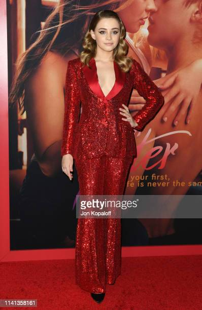 Josephine Langford attends the Los Angeles premiere of Aviron Pictures' After at The Grove on April 08 2019 in Los Angeles California