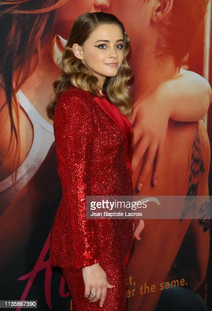 Josephine Langford attends the premiere of Aviron Pictures' 'After' at The Grove on April 08 2019 in Los Angeles California