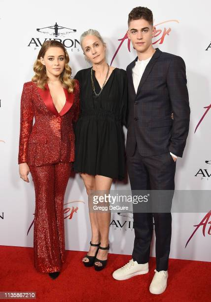 "Josephine Langford, director Jenny Gage and Hero Fiennes-Tiffin attend the Los Angeles Premiere Of Aviron Pictures' ""After"" at The Grove on April 8,..."