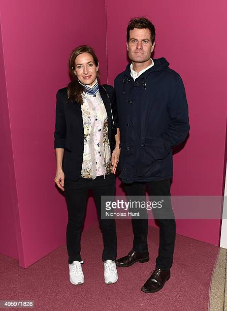 Josephine Meckseper and Blake Rayne attend the 2015 Guggenheim International Gala Dinner made possible by Dior at Solomon R Guggenheim Museum on...