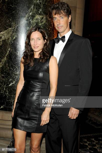Josephine Meckseper and Richard Phillips attend AMERICANS FOR THE ARTS 2010 National Arts Awards at Cipriani 42nd St on October 18, 2010 in New York...