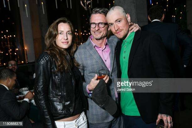 Josephine Meckseper, Charles Renfro and Nick Theobald attend the 2019 High Line Spring Benefit on May 21, 2019 in New York City.