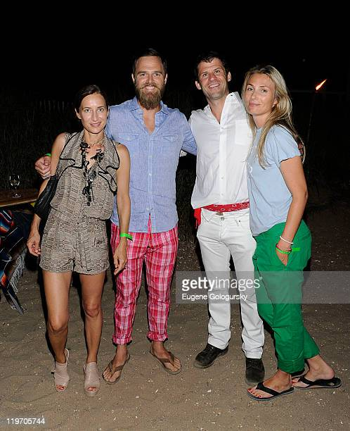 Josephine Meckseper, Jay Alaimo, Andy Deal and Marylynn Piotrowski attend the Tommy Hilfiger presentation of a screening of Sight & Sound, a surf...