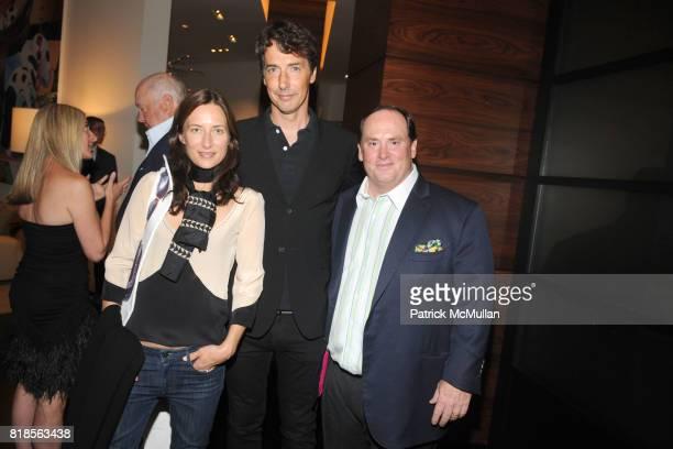 Josephine Meckseper, Richard Phillips and John Phelan attend AMY & JOHN PHELAN host wineCRUSH 2010 for the ASPEN ART MUSEUM at Phelan Residence on...