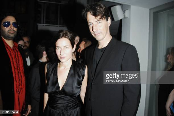 Josephine Meckseper, Richard Phillips attend the INTERVIEW Magazine & LVMH Host's Art Basel 2009 Cocktails and Dinner at Mondrian Hotel on December...