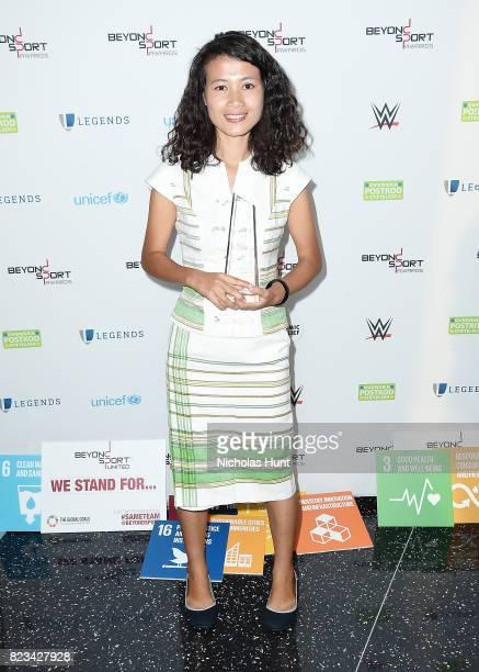 Josephine Nan Mu attends the Beyond Sport Global Awards on July 26 2017 in New York City
