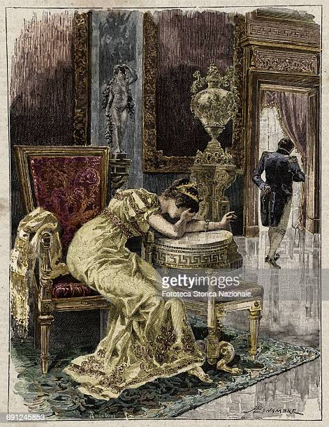 Josephine of Beauharnais desperate the first wife of Napoleon Bonaparte when it became clear that it could no longer have children accepted painfully...