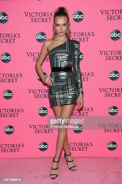 Josephine Skiver attends the Victoria's Secret Viewing Party ar Spring Studios on December 2 2018 in New York City