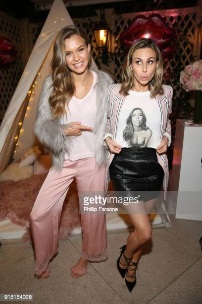 Josephine Skriver and Keltie Knight attend Victoria's Secret Ultimate Girls Night In with Angels Josephine Skriver and Romee Strijd at Peninsula...