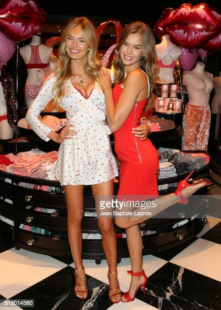 Josephine Skriver and Romee Strijd attend Victoria's Secret Angels Josephine Skriver and Romee Strijd share the new Dream Angels and Very Sexy...
