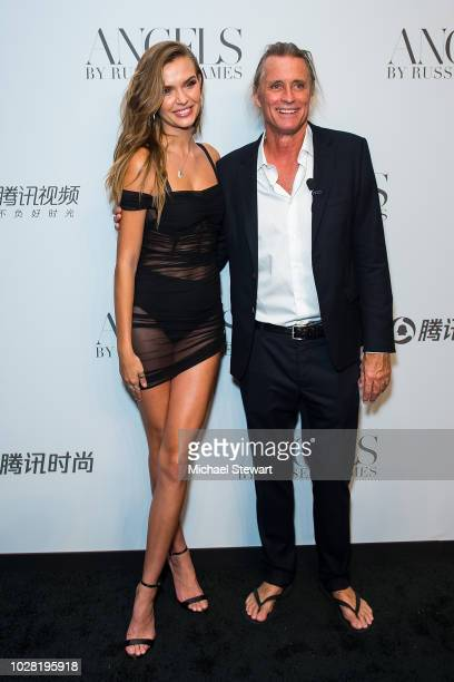 Josephine Skriver and Russell James attend the Russell James 'Angels' book launch & exhibit at Stephan Weiss Studio on September 6, 2018 in New York...
