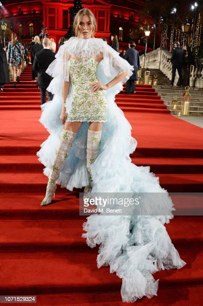 Josephine Skriver arrives at The Fashion Awards 2018 in partnership with Swarovski at the Royal Albert Hall on December 10 2018 in London England
