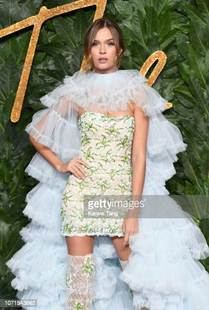 Josephine Skriver arrives at The Fashion Awards 2018 In Partnership With Swarovski at Royal Albert Hall on December 10 2018 in London England
