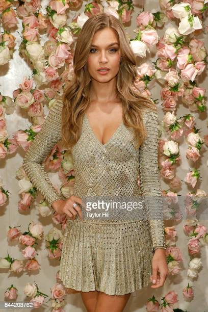 Josephine Skriver attends a photocall for the launch of 'LOVE' at Victoria's Secret Fifth Ave on September 7 2017 in New York City