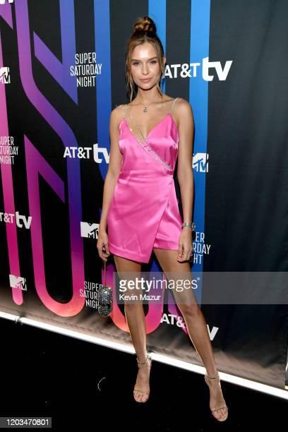 Josephine Skriver attends ATT TV Super Saturday Night at Meridian at Island Gardens on February 01 2020 in Miami Florida