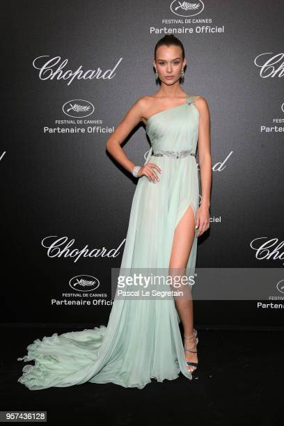 Josephine Skriver attends Chopard Secret Night during the 71st annual Cannes Film Festival at Chateau de la Croix des Gardes on May 11, 2018 in...
