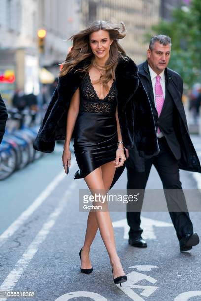 Josephine Skriver attends fittings for the 2018 Victoria's Secret Fashion Show in Midtown on October 30 2018 in New York City