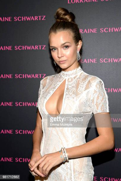 Josephine Skriver attends Lorraine Schwartz launches The Eye Bangle a new addition to her signature Against Evil Eye Collection at Delilah on March...