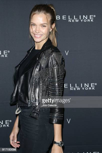 Josephine Skriver attends Maybelline New York and V Magazine host New York Fashion Week Party at Nomo Soho Hotel on February 11 2018 in New York City