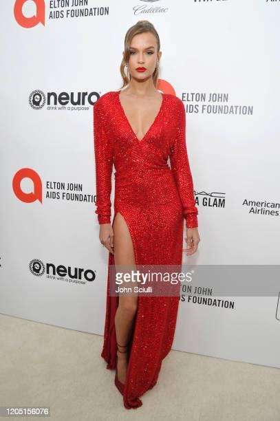 Josephine Skriver attends Neuro Brands Presenting Sponsor At The Elton John AIDS Foundation's Academy Awards Viewing Party on February 09 2020 in...