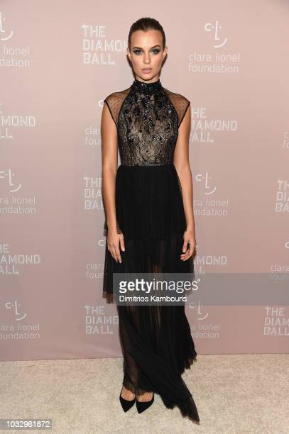 Josephine Skriver attends Rihanna's 4th Annual Diamond Ball benefitting The Clara Lionel Foundation at Cipriani Wall Street on September 13 2018 in...