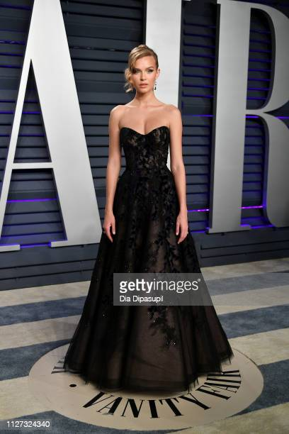 Josephine Skriver attends the 2019 Vanity Fair Oscar Party hosted by Radhika Jones at Wallis Annenberg Center for the Performing Arts on February 24...