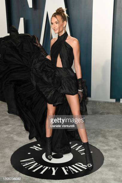 Josephine Skriver attends the 2020 Vanity Fair Oscar party hosted by Radhika Jones at Wallis Annenberg Center for the Performing Arts on February 09...
