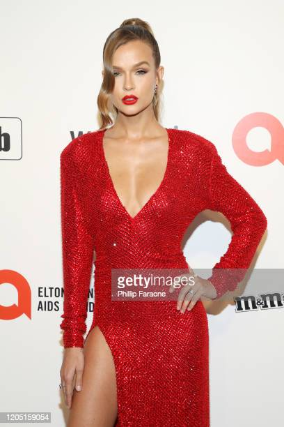 Josephine Skriver attends the 28th Annual Elton John AIDS Foundation Academy Awards Viewing Party Sponsored By IMDb Neuro Drinks And Walmart on...