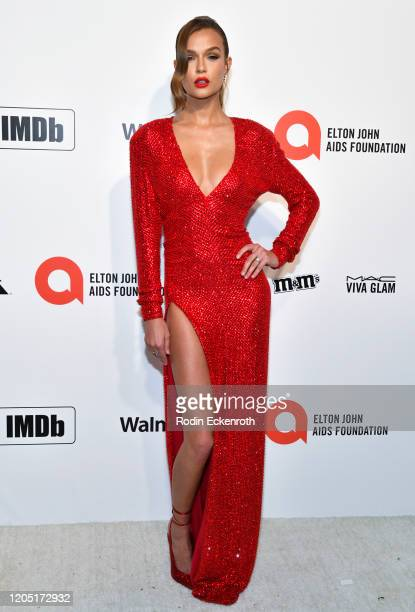 Josephine Skriver attends the 28th Annual Elton John AIDS Foundation Academy Awards Viewing Party Sponsored By IMDb And Neuro Drinks on February 09...