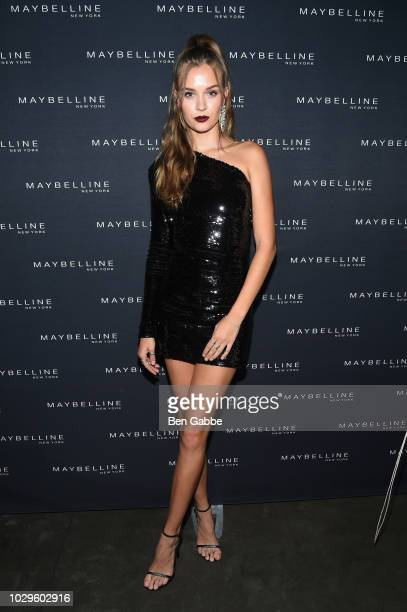 Josephine Skriver attends the Maybelline x New York Fashion Week XIX Party at Mr Purple at the Hotel Indigo LES on September 8 2018 in New York City