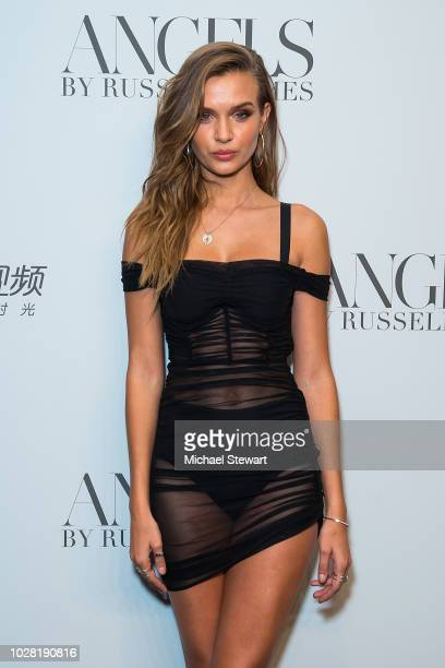 Josephine Skriver attends the Russell James 'Angels' book launch & exhibit at Stephan Weiss Studio on September 6, 2018 in New York City.