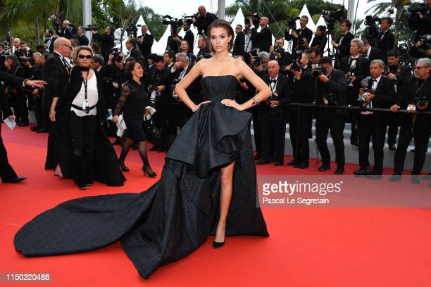 Josephine Skriver attends the screening of A Hidden Life during the 72nd annual Cannes Film Festival on May 19 2019 in Cannes France