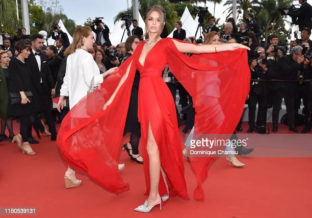 Josephine Skriver attends the screening of La Belle Epoque during the 72nd annual Cannes Film Festival on May 20 2019 in Cannes France