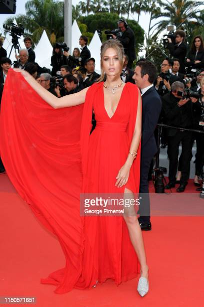 Josephine Skriver attends the screening of Le Belle Epoque during the 72nd annual Cannes Film Festival on May 20 2019 in Cannes France