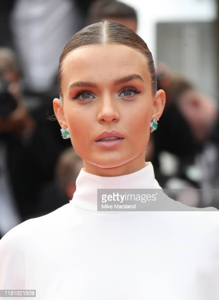 Josephine Skriver attends the screening of Oh Mercy during the 72nd annual Cannes Film Festival on May 22 2019 in Cannes France