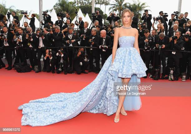 Josephine Skriver attends the screening of 'Sorry Angel ' during the 71st annual Cannes Film Festival at Palais des Festivals on May 10 2018 in...