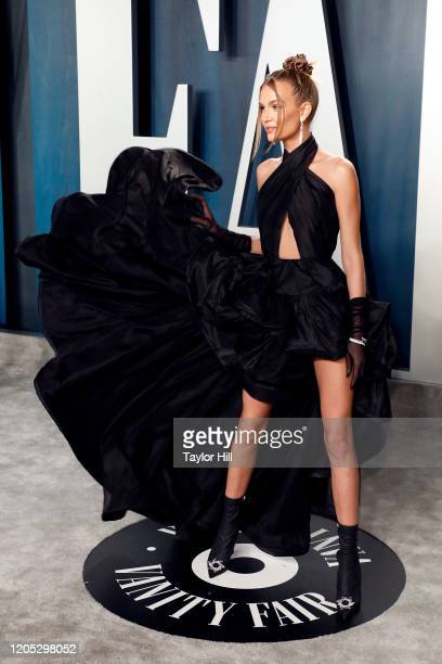 Josephine Skriver attends the Vanity Fair Oscar Party at Wallis Annenberg Center for the Performing Arts on February 09 2020 in Beverly Hills...