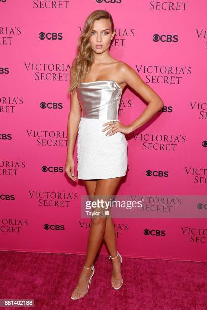 Josephine Skriver attends the Victoria's Secret Viewing Party Pink Carpet celebrating the 2017 Victoria's Secret Fashion Show in Shanghai at Spring...