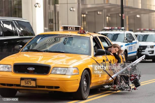Josephine Skriver films a Maybelline commercial on September 15 2020 in New York City New York