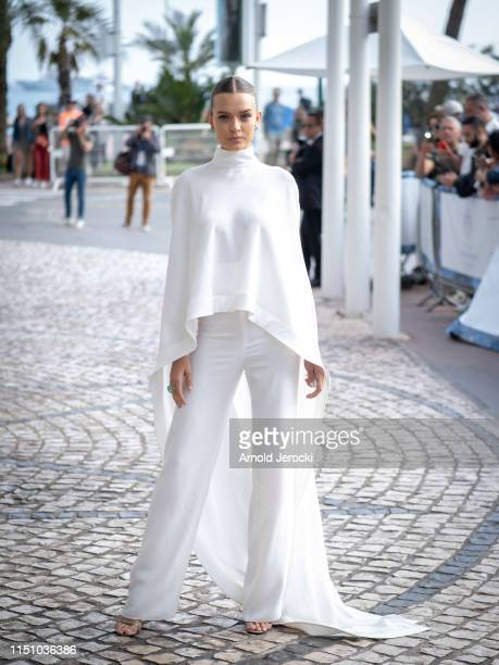 Josephine Skriver is seen at the hotel Martinez during the 72nd annual Cannes Film Festival on May 22 2019 in Cannes France