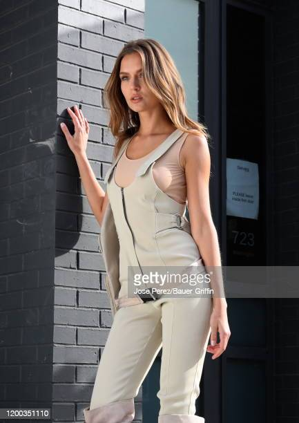 Josephine Skriver is seen on set for a shoot for Maybelline on February 12 2020 in New York City