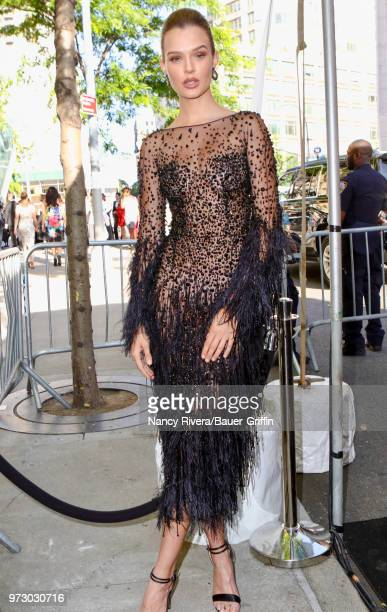 Josephine Skriver is seen outside 2018 Fragrance Foundation Awards at Alice Tully Hall at Lincoln Center on June 12 2018 in New York City